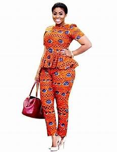 Tenue Femme Pour Bapteme : africain bazin riche v tements pour femmes deux pi ces tenues pantalon africain femmes v tements ~ Melissatoandfro.com Idées de Décoration