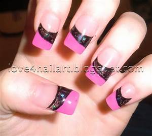 Black And Pink Acrylic Nails Slyburycom - CPGDS Consortium