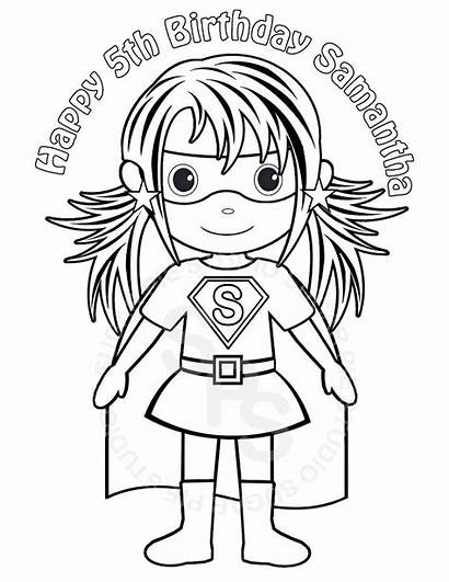 Coloring Superhero Printable Birthday Super Hero Sheets