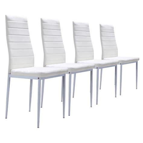 lot de 4 chaises blanches achat vente chaise soldes cdiscount