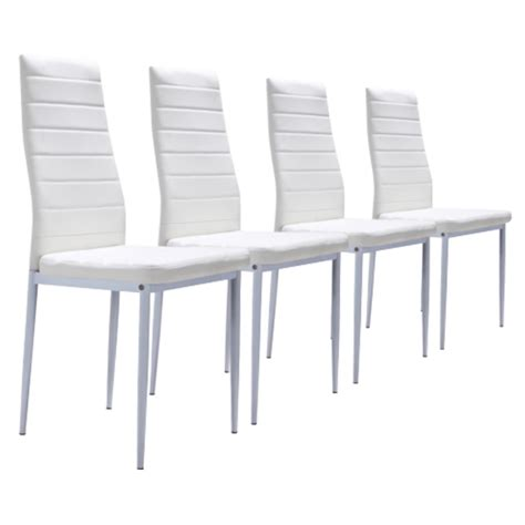 lot de 4 chaises blanches lot de 4 chaises blanches achat vente chaise cdiscount