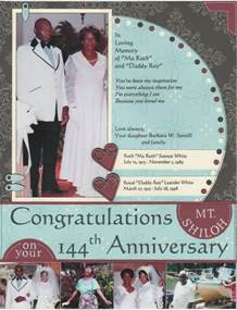 funeral booklets collections of congratulation church anniversary sle