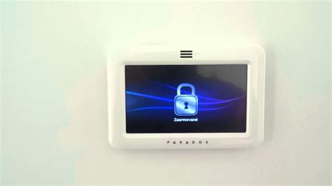 paradox tm50 touch keypad alarm sound