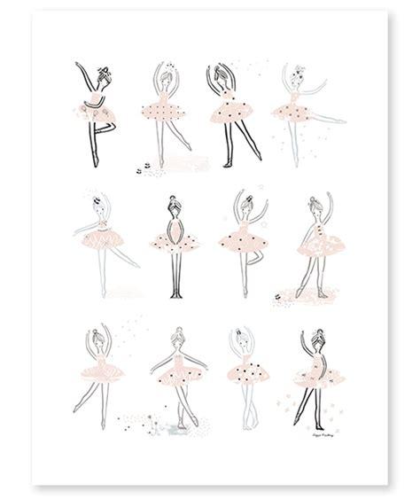 chambre fille et gris affiche danse classique décoration chambre fillette lilipinso