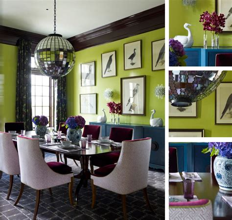 original fabulous green dining room interior design
