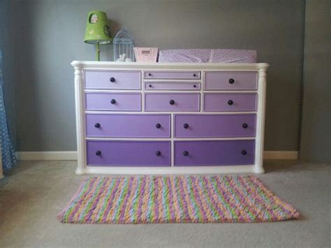 Nursery Chest Of Drawers by Purple Ombre Dresser Changing Table Baby S Room And