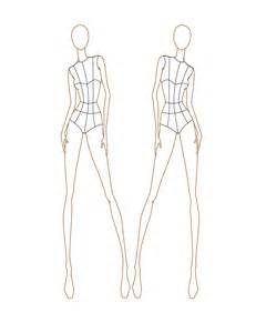 Fashion Croquis Templates Front and Back