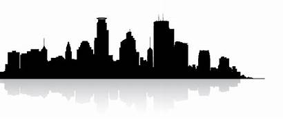 Skyline Outline Minneapolis Clipart Cityscape Twin Cities