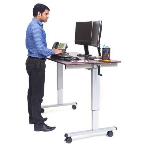 stand up desk price bettymills 60 quot crank adjustable stand up desk luxor