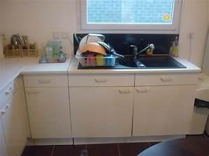 relloker les meubles de cuisine melamine blanc With repeindre meubles de cuisine melamine
