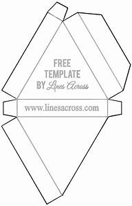 foldable triangle gift box template printable With triangle packaging template