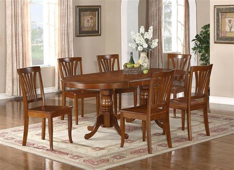 pc oval dinette kitchen dining set table   wood seat