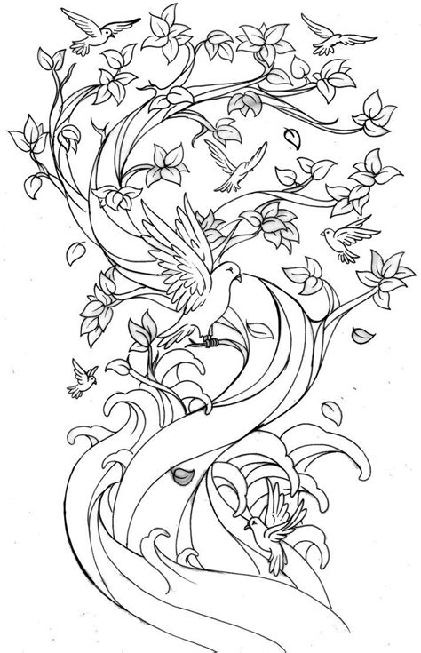 Family Tree Tattoo by ~Metacharis on deviantART but each a different bird to fit personality or