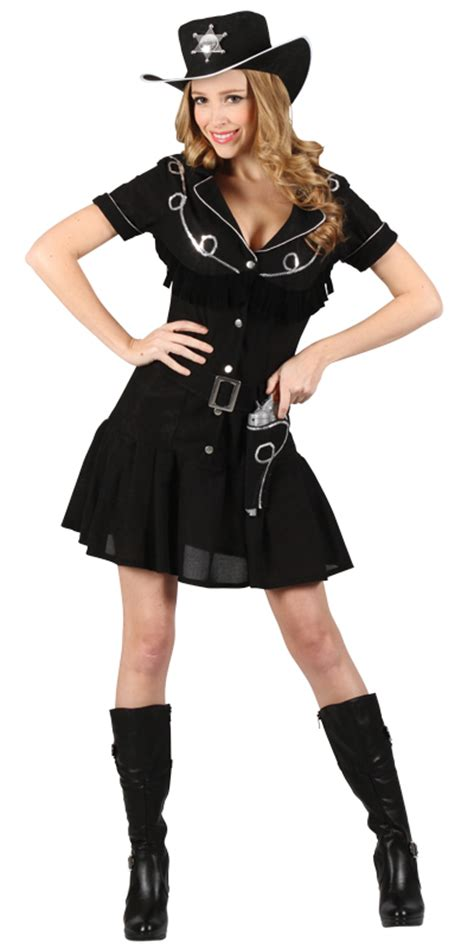 Ladies Gunslingin Cowgirl Wild West Sheriff Halloween Fancy Dress Party Costume