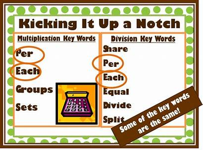 Division Multiplication Word Problems Words Key Pegs