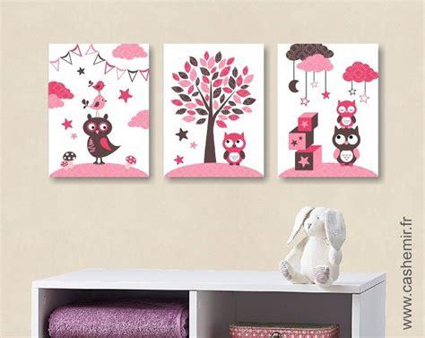 affiche chambre bebe lot de 3 illustrations pour chambre de bébé fille et d