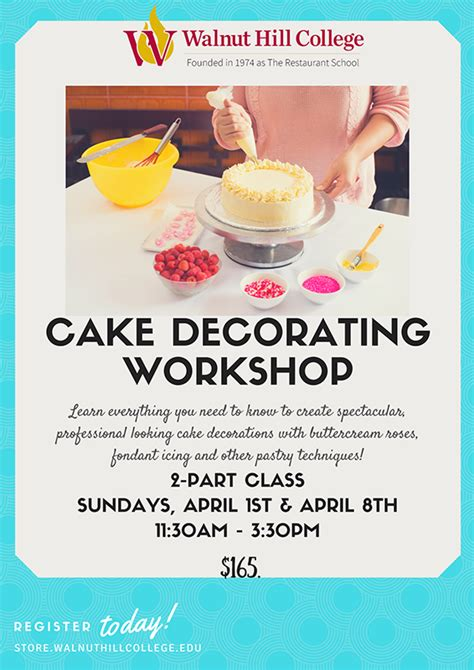 cake decorating workshop community education classes