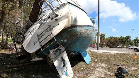 Boats Damaged By Hurricane Florence by Fema Estimates 25 Per Cent Of Florida Homes Are