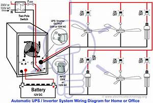Automatic Ups    Inverter Wiring  U0026 Connection Diagram To The Home