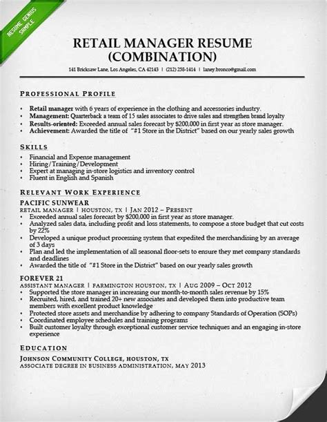 Career Achievements In Resume by Retail Sales Associate Resume Sle Writing Guide Rg For