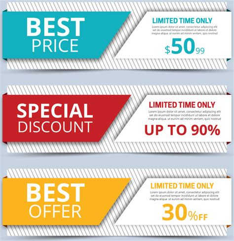 sales promotion banners sets on 3d background free vector in adobe illustrator ai ai format