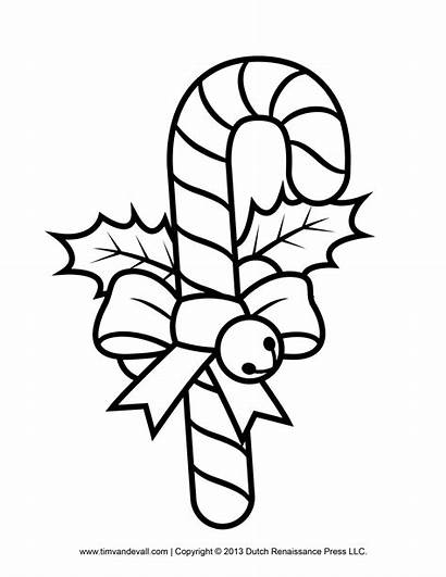 Candy Cane Template Coloring Printables Decorations Christmas