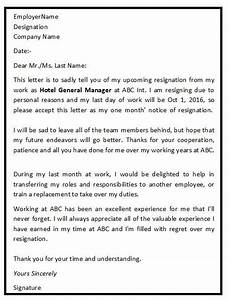 Letter Of Intent Application Job The Above Are Some Standard Formal Resignation Letter