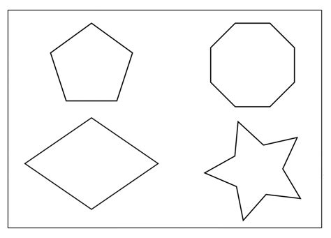 shapes coloring pages  childrens printable