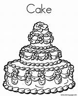 Coloring Cake Birthday Pages 9fcd Printable Delicious Print sketch template