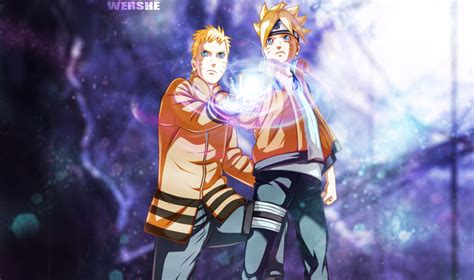 Naruto And His Son (boruto) Wallpaper And Background Image