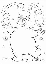 Snowman Coloring Abominable Pages Printable Getcolorings Together sketch template