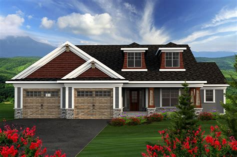 Home Design Plans : 2 Bedroom Craftsman Ranch
