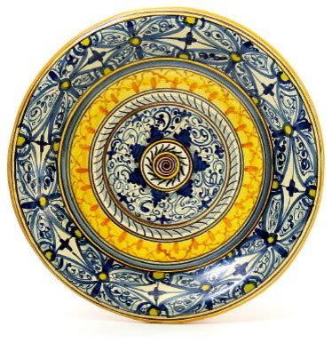 siciliana wall plate medium geometric design mediterranean home decor  artistica