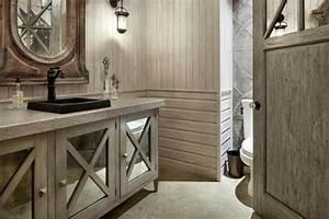 salle de bain design rustique un havre d39harmonie With meuble salle de bain rustique