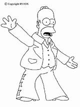 Simpson Homer Coloring Drawings Printable Rock sketch template