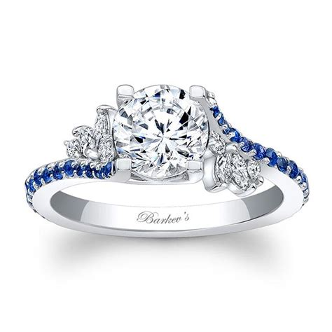 barkevs blue sapphire engagement ring lbs barkevs