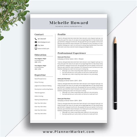 Creative Professional Resume Templates by Professional Resume Template Cv Template Creative Resume