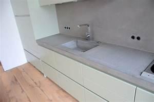 Arbeitsplatte Küche Beton : beton cire oberfl chen in beton look beton k che beton cire ~ Watch28wear.com Haus und Dekorationen