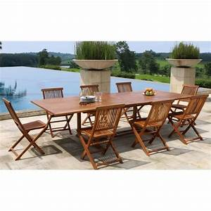 Table En Teck Jardin : ensemble en teck huil table extensible de jardin 200 ~ Dailycaller-alerts.com Idées de Décoration