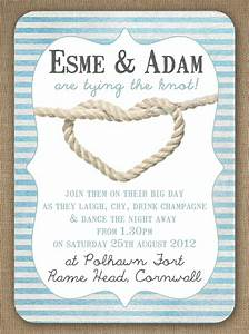knots and anchors nautical seaside sailing beach theme With the knot wedding invitation language
