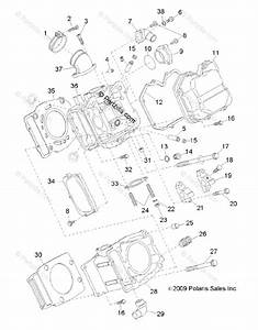 Polaris Side By Side 2013 Oem Parts Diagram For Engine  Cylinder