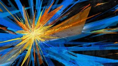 Explosion Abstract Wallpapers Fun Dual Monitor Orange
