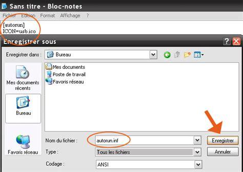 mettre icone sur bureau comment mettre une icône sur votre clé usb seven vista xp