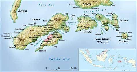 ambon indonesia map