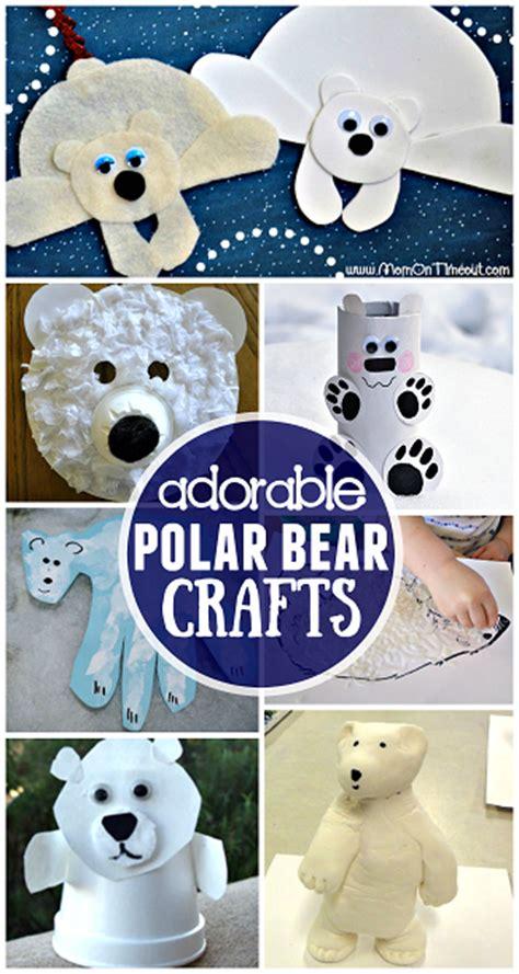 winter polar bear crafts  kids   crafty morning