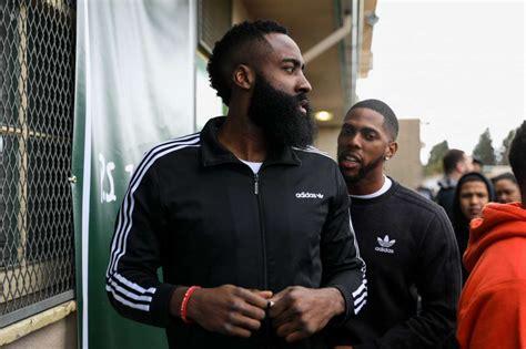 Houston Rockets star James Harden visits his old middle ...