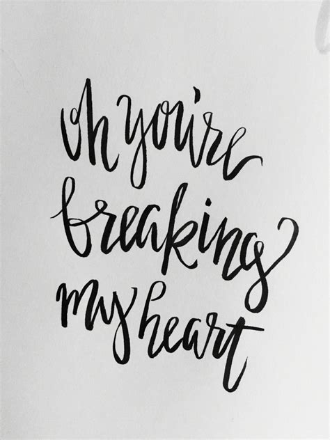 hand lettering song lyrics hand lettering