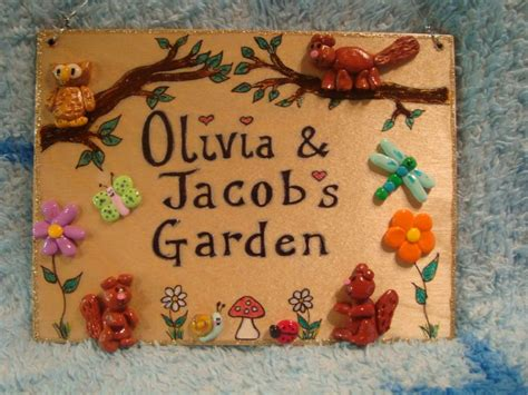 wooden garden plaques squirrel personalised house bedroom wendyhouse or playhouse garden sign unique any phrasing