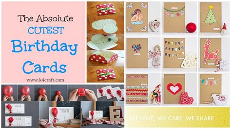 craft card ideas 15 easy handmade birthday gift cards step by step k4 1452