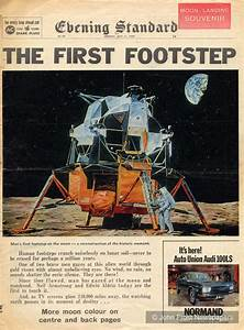 The First Footstep. Man lands on the moon. London Evening ...